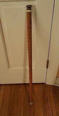 Antique Walking Stick Cane with Ivory Inset