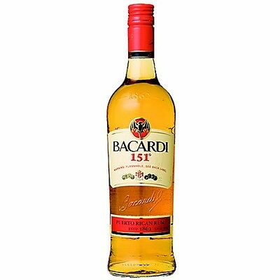 Bacardi 151-Ultra Rare and Discontinued Liquor (1 Liter)  --hardest to find