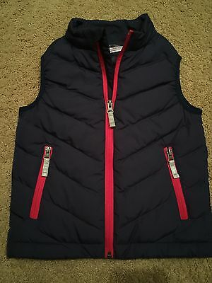 Hanna Andersson Size 110 Navy Puffy Vest With Red Zipper NWOT