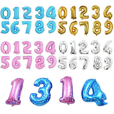 """40"""" Large Number 0-9 Foil BALLON Happy Birthday Party Decoration Baloons Wedding"""