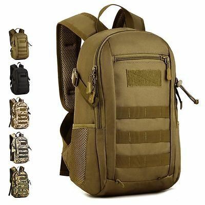 12L Outdoor Military Tactical Backpack Molle Travel Bag Rusksack Hiking Camping