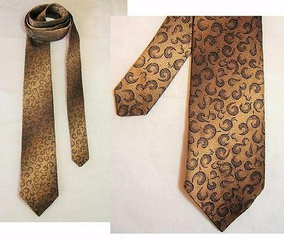 "Cool Vintage Late 1950s Narrow Tie in Shimmering Textural ""Ombré"" Brocade"