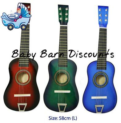 NEW Fun Factory - Wooden Guitar 6 String 58 cm - Red from Baby Barn Discounts