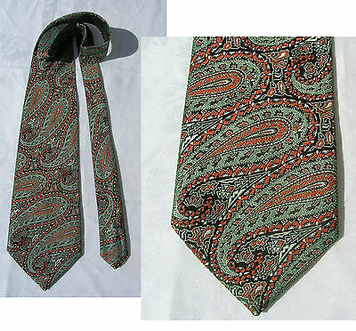 Impressive Vintage 1970's Tie Iridescent Paisley Extra-Wide & Long by Wembley