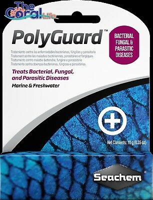 SEACHEM POLYGUARD 10g FOR TREATMENT OF BACTERIAL FUNGAL PARASITIC DISEASES