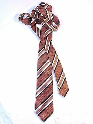 Striking 1960's Tie in Textural Diagonal Brocade by 'Currie' ~ Collectible!