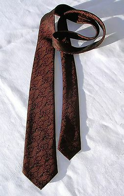 Vintage 1960's Narrow Necktie by Abbey in Rich Paisley Brocade ~ Collectible!