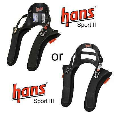 HANS Sport II / 2 or III / 3 Device 20 Degree FHR Head & Neck Safety Device FIA