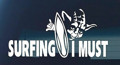 SURF surfing car decal funny