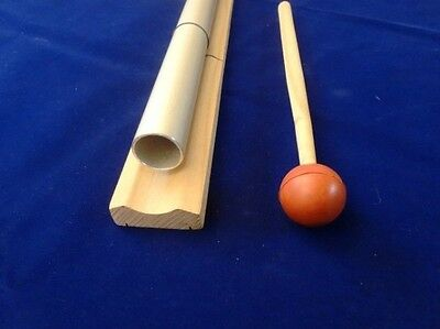 """528 Hz 21"""" Pipe on wood bar for Healing - louder than Tuning fork"""