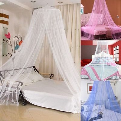 Royal Style Round Dome Lace Curtain Bed Canopy Netting Princess Mosquito Net NEW