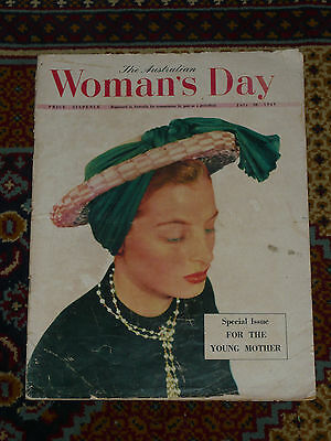 Rare 1st Ed 1949 Australian Womans Day Magazine Vol 1 #25 Vintage Mag Great Ads