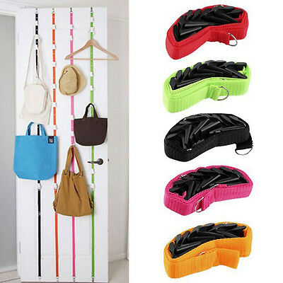 HOT Baseball Cap Hat Rack Holder Organizer Back Door Hanger Band Strap 8 Hooks A