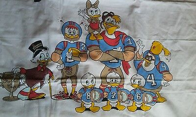 Disney Bettwäsche bedding sports football cup Dagobert Duck vintage 70s 80s