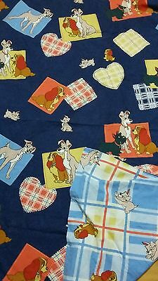 Disney Bettwäsche bedding Susi und Strolch Lady and Tramp vintage 80s 90s fabric
