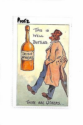 Irish Whisky 'This Is Well Bottled' There Are Others 1907 Postcard