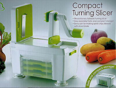 4 in 1 Vegetable Fruit Spiraliser - Raw Food Spiralizer Slicer & Turner Spirooli