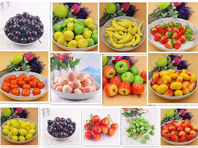 10X Artificial Fake Foam Fruits Faux food Model House Kitchen Party Decorative