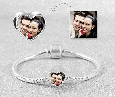 Heart Photo Charm Personalised with an image of your choice VALENTINES GIFT?