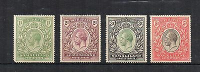 Somaliland Protectorate 1921 1r to 5r MH