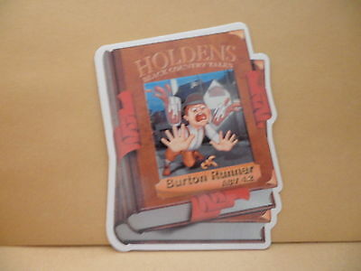 Holdens Burton Runner Ale Beer Pump Clip face Bar Collectible 40