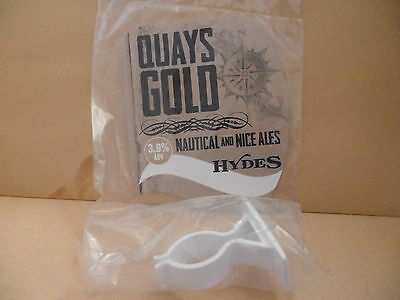 Hydes Quay Gold Ale Beer Pump Clip face Pub Collectible NEW with Clamp 45