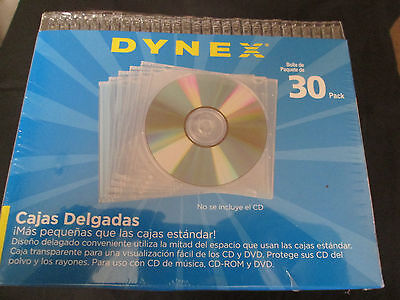 Dynex Slim Jewel Cases  30 Pack Clear