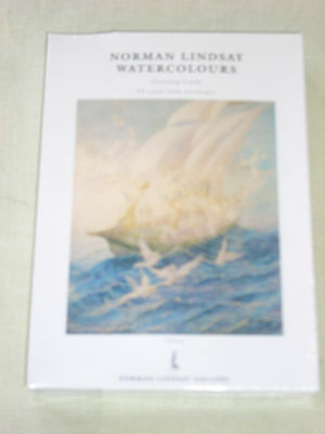 Norman Lindsay Watercolours - Set Of 10 Greeting Cards