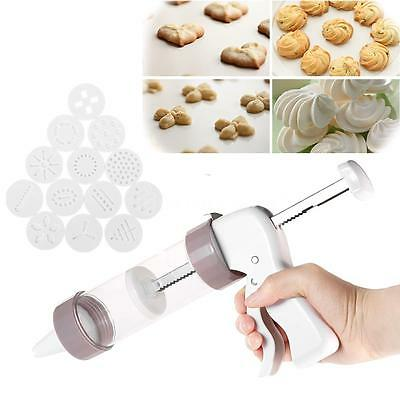 Baking Cake Biscuits Mold Cookie Press Making Gun Cookies Presser Mould New D6O0