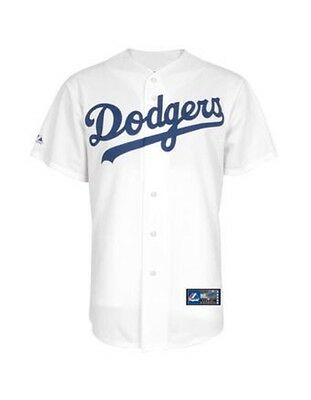 Authentic MLB Los Angeles Dodgers Mens Baseball White Replica Jersey New M