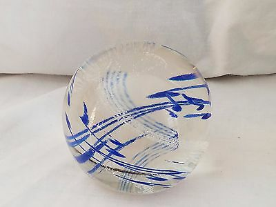Caithness Art Glass  Paperweight Rhythm N Blues  Scotland---Marked And Numbered