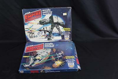 (2) Vintage Star Wars: Empire Strikes Back Paint by Number Kits - 1 New & 1 Used