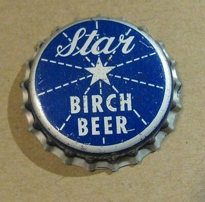 Star Birch Beer Unused  Cork Soda Bottle Cap Rome New York Star Beverage Co