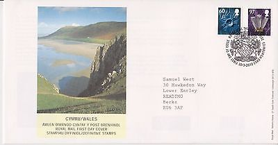 Gb Royal Mail Fdc First Day Cover 2010 Wales Definitives Bureau Pmk