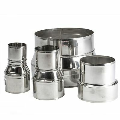 Stainless Steel Pipe Connector Adaptor, Chimney Flue Liner Reducer Ø 80-250mm
