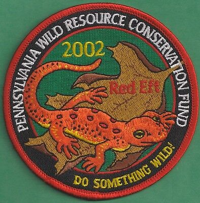 Pa Pennsylvania Fish Game Commission Related 2002 WRCF Red Eft Salamander Patch