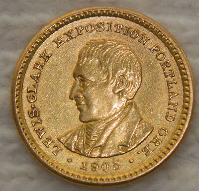 1905 Lewis and Clark Exposition Gold Dollar $1
