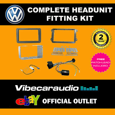 Connects2 CTKVW16 Double Din Stereo Fitting Kit For Volkswagen Transporter T6