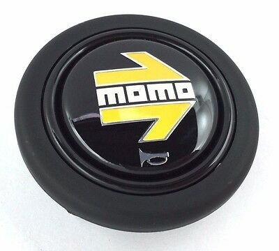 NEW Genuine Momo yellow arrow steering wheel horn push button. Also Sparco OMP