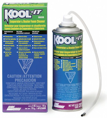 Lubegard 96030 KoolIt Evaporator and Heater Foam Cleaner, New, Free Shipping.