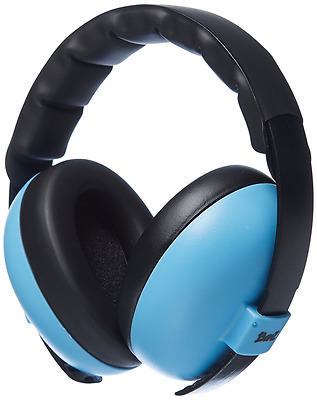 Newborn Hearing Protection Earmuff, Blue, 3 months+, Baby Banz Baby-Boys, New.