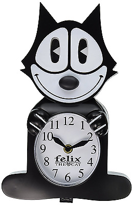 NJ Croce Felix The Cat Animated Wall Clock, New, Free Shipping.