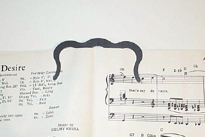Music Book Clip or Page Holder, New, Free Shipping.