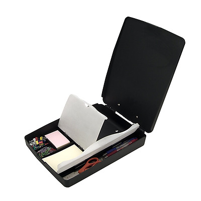 Officemate Extra Storage and Supply Clipboard, Charcoal (83333), New.