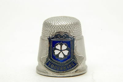 Yorkshire Crest Pewter Thimble B/105