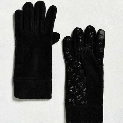 Urban Outfitters Black MICRO FLEECE GLOVES (Touchscreen Compatible) - NEW