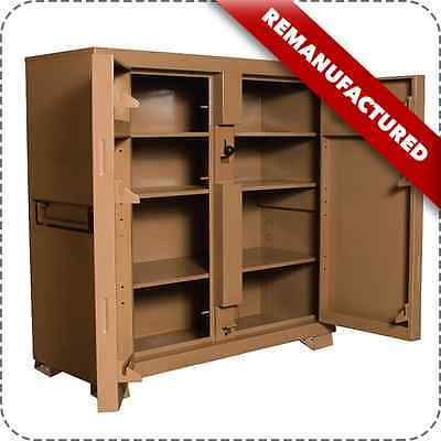 """Knaack 109 Jobmaster 60""""X24""""X57"""" Cabinet Storage Box Reconditioned With Casters"""