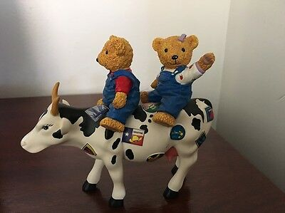 Cow Parade Retired Teddy Bears On The Moove 7743