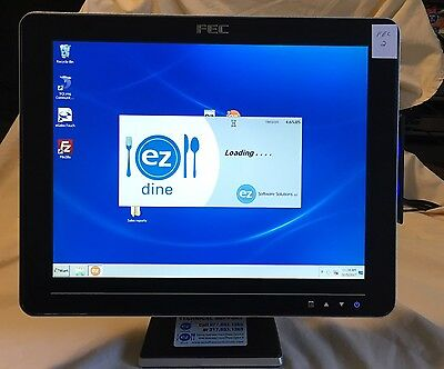 "FEC AM-1015 POS 15"" touch screen display w/stand and all cords Point of Sale #2"