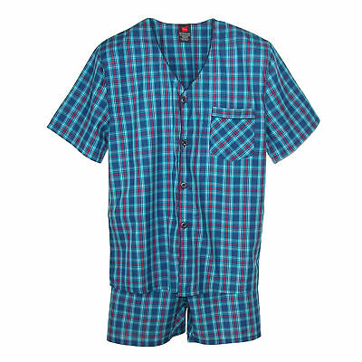 New Hanes Men's Short Sleeve Short Leg Pajama Set